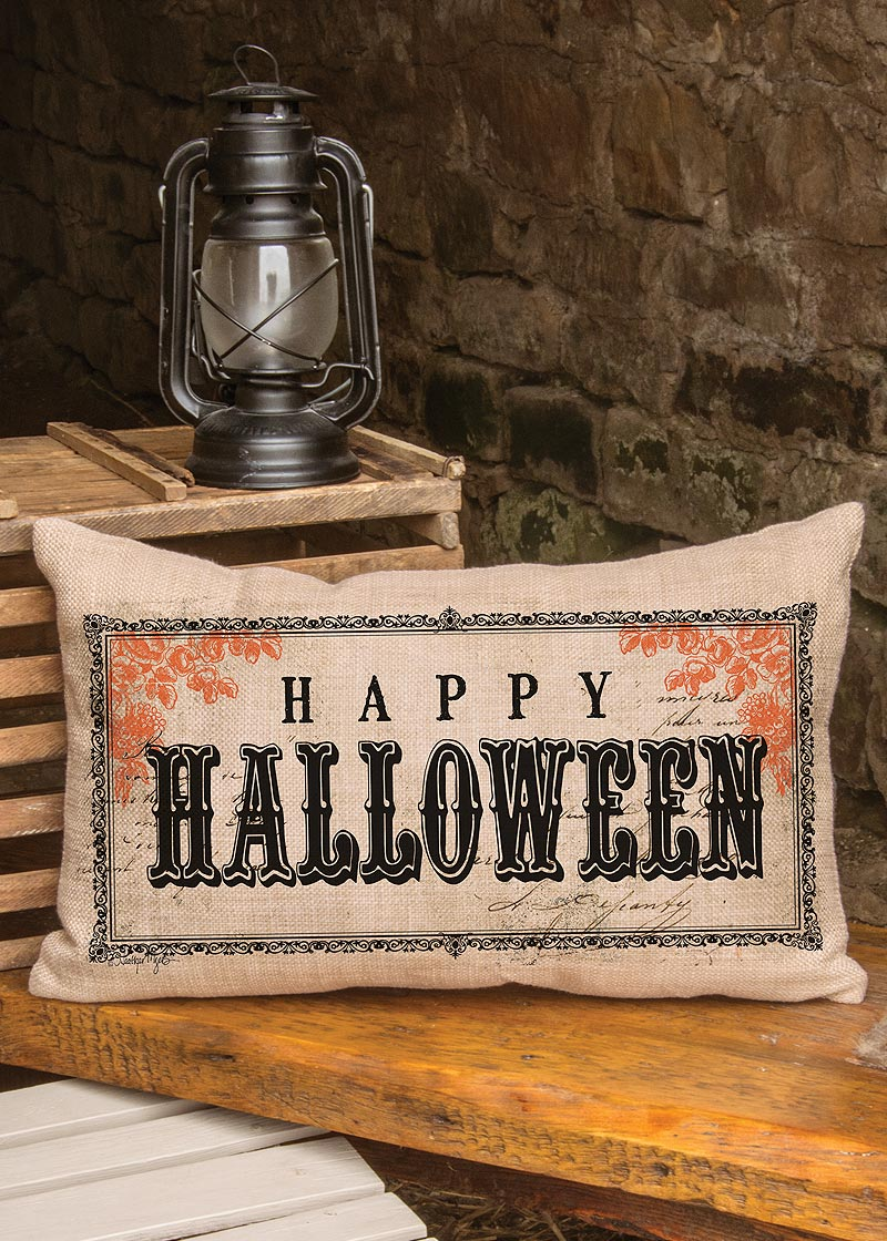 "Vintage Halloween Pillow 12"" x 20"""