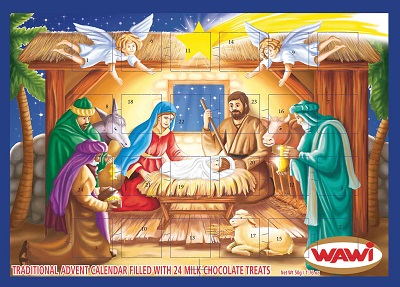 *Wawi chocolate filled Religious Advent calendar