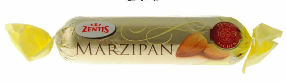Marzipan Dark Choc. covered bar (Zentis) 100 gram