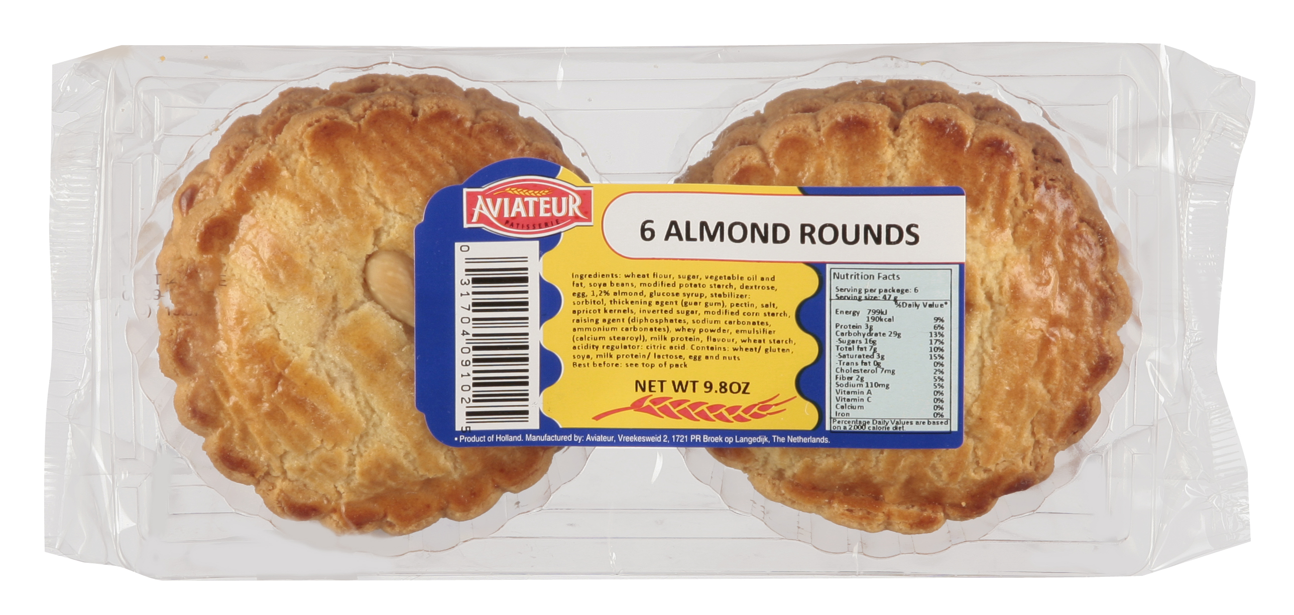 Aviateur Almond Rounds (OUT OF STOCK- BACK END OF JANUARY)