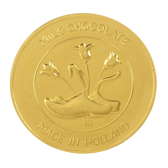 Chocolate gold coin Medallion 2.5""