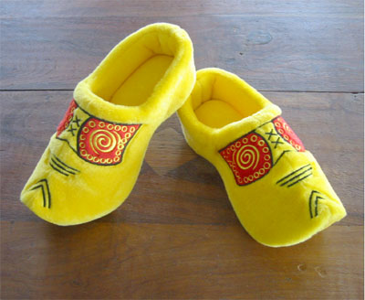 Wooden Shoe Slippers - Farmer's Yellow