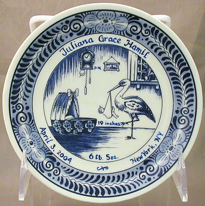 "Personalized Birth Plate 6"" (DISCONTINUED)"