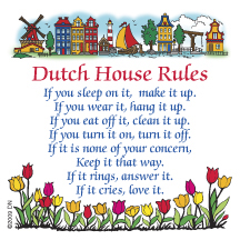 "3"" Magnet Tile: Dutch House Rules (3 LEFT)"