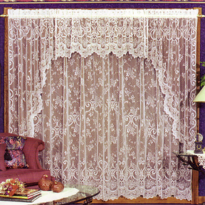 English Ivy swag pair, valance, Panels & Drape Shade