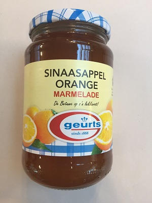 Geurts Sinaasappel Orange Marmalade (Dutch orange jam) (1 LEFT)