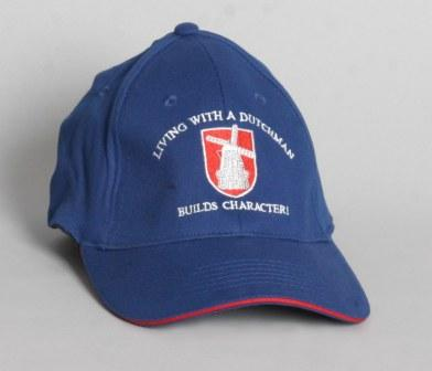 "Dutch Ball Cap ""Living with a Dutchman Builds Character"""