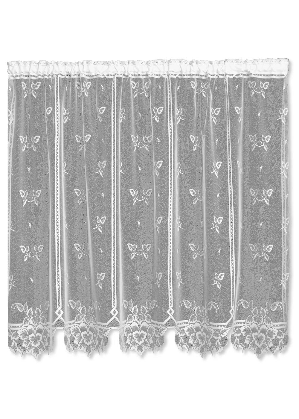 "Heirloom Panel (Sheer) 50x63"" w/ ties (white)"