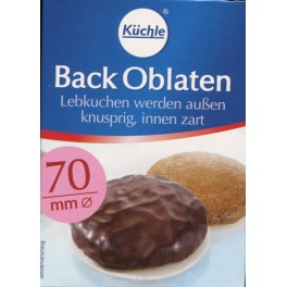 Back Oblaten 70mm Kuchle