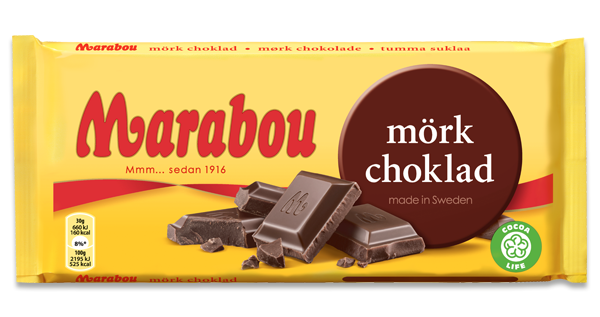Marabou Mörk (dark) Choklad (SELL-BY FEB25, 2019)