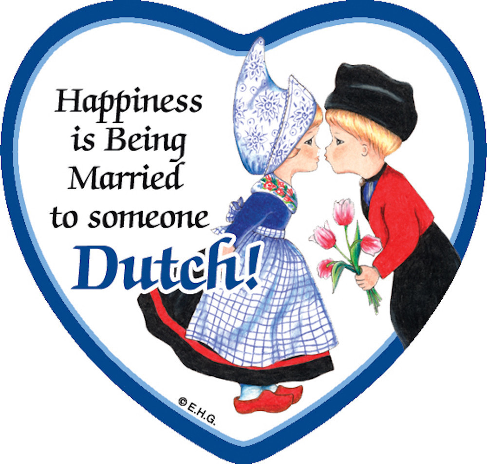 "3"" Magnet tile: Happiness... married someone Dutch (ONLY 3 LEFT)"