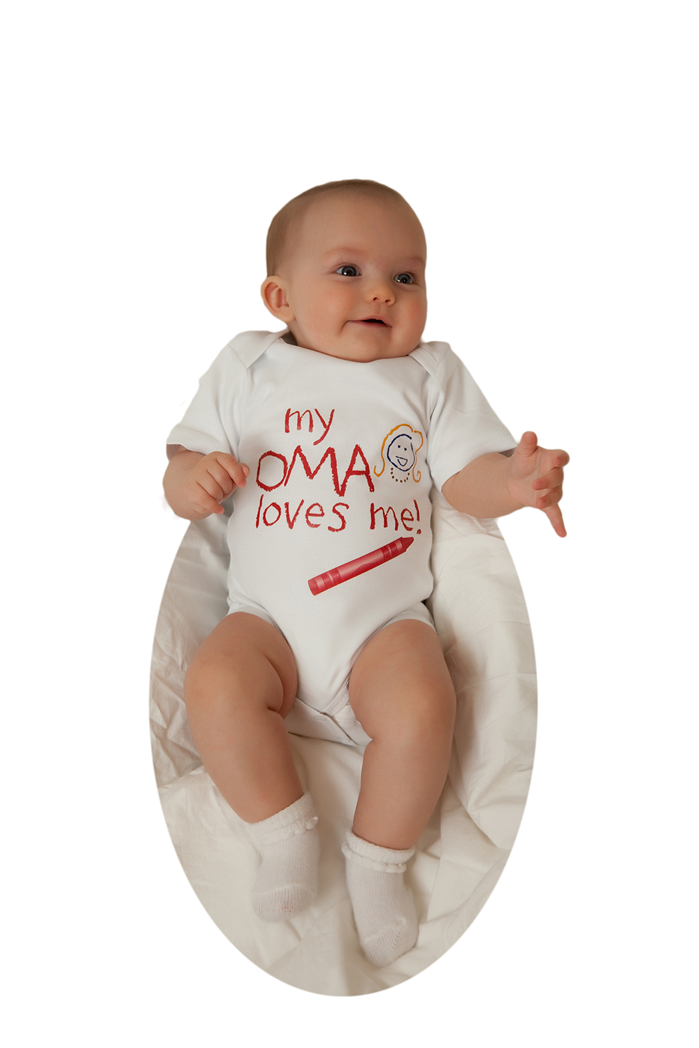Baby Onesie 'My Oma Loves Me' 6 months - one left