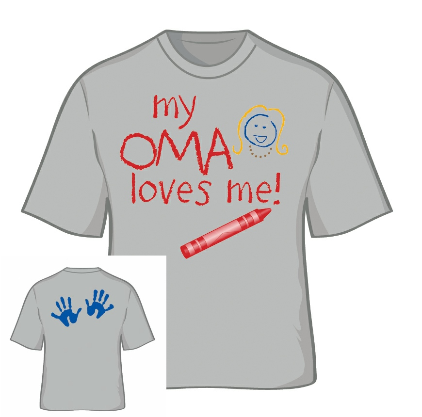 """My Oma Loves Me"" T Shirt Small"