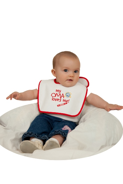 Baby Bib: My Oma Loves Me! (ONLY 5 LEFT)