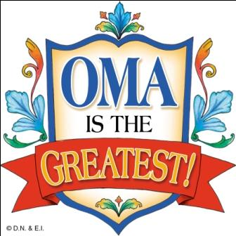 "3"" Magnet Tile:  Oma is the Greatest"