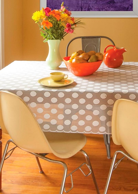 Polka Dot Rectangle Tablecloth