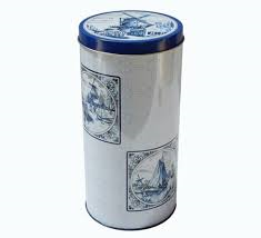 Bolletje Rusks/Crispbakes Decorative Tin - Delft Blue