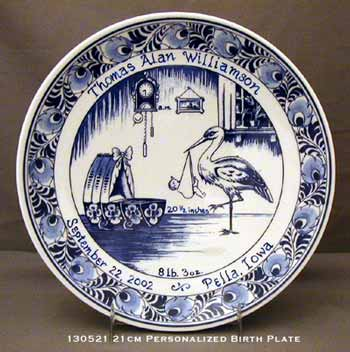 "Personalized Birth Plate 8"" (DISCONTINUED SOON)"