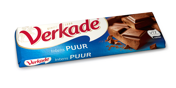 Verkade Dark Chocolate Bar NEW LARGER SIZE 3.9 OZ