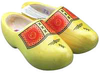 Farmer's Yellow Wooden Shoes