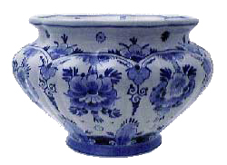 "De Porceleyne Fles Blue 5.5"" Floral Pot/Planter (7006)"