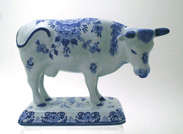 "De Porceleyne Fles Blue 6"" Large Cow (091071)"