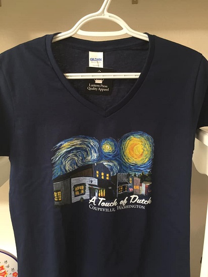 A Touch Of Dutch Starry Night Womens Tshirt V-Neck - Navy
