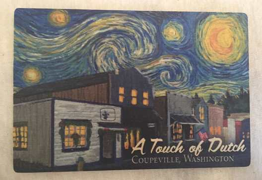 A Touch Of Dutch Starry Night Wooden Postcard (4x6)