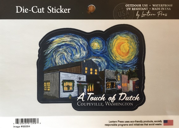A Touch Of Dutch Starry Night Die-cut Sticker