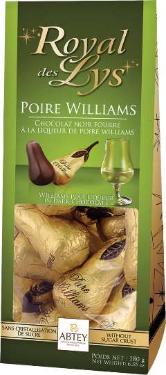 *Abtey Pear William chocolates (ALCOHOL)