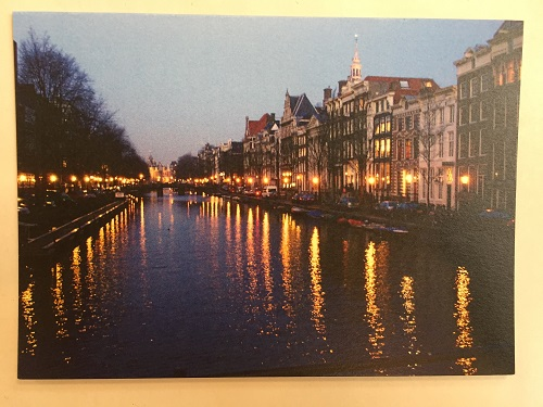 Amsterdam Canals by Night Card (10 left)