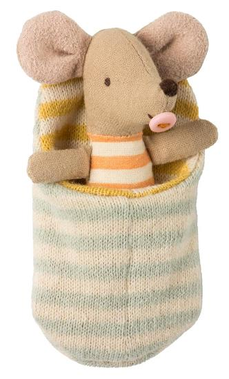 Maileg Baby Mouse in Sleep Bag