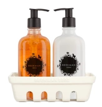 Beekman 1802 Goat Milk Honeyed Grapefruit Hand Care Duo CaddySet