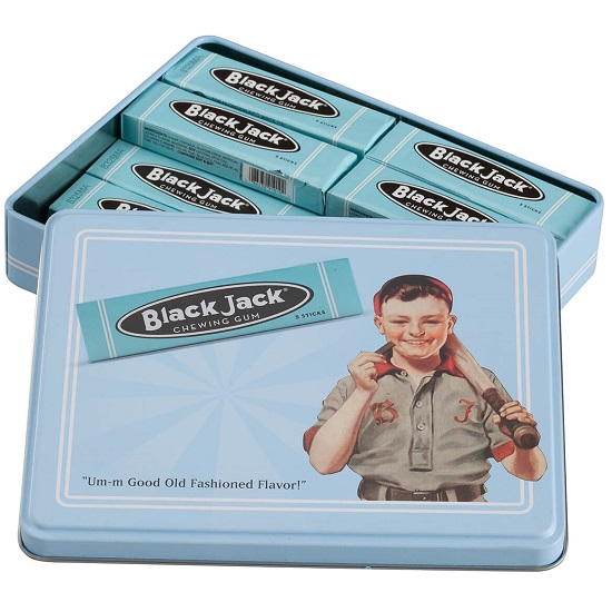 Chewing Gum - Black Jack Licorice (10packs) in Commemorative Tin