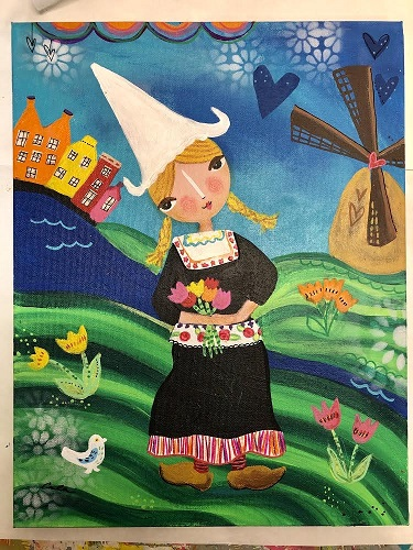 Print of Dutch Girl - locally made by Carlas Funky Art