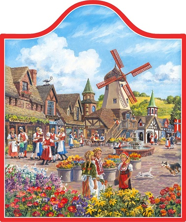 Windmill Village (color) Cheeseboard / Wall Hanging