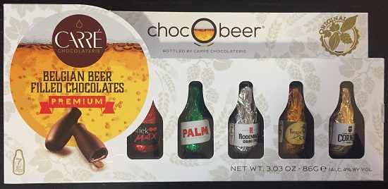*ChocOBeer Belgian beer filled choc 7 pc (ALCOHOL) 21 only