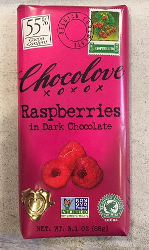 *Chocolove Raspberries in Dark Chocolate Bar (ONLY 1 LEFT)