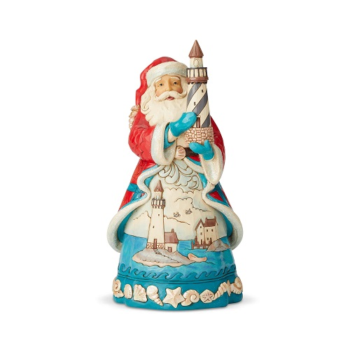 Jim Shore - Coastal Santa with Lighthouse (Out Of Stock)
