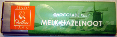 De Heer Milk Chocolate Hazelnut Bar