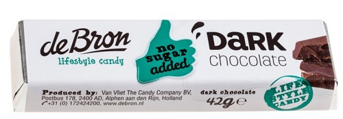 De Bron Sugar Free Dark Chocolate Bar