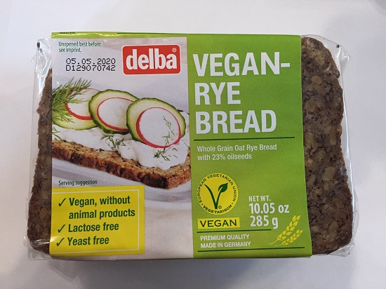 Delba Vegan Rye Bread (Germany)