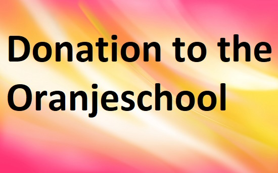 $ Donation to Oranjeschool