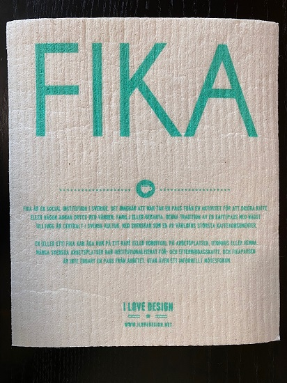 Dry Sponge Cloth FIKA *More designs in store