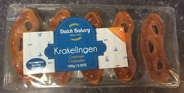 Dutch Bakery Krakelingen (Cracknels) (clear package) (OUT OF STO