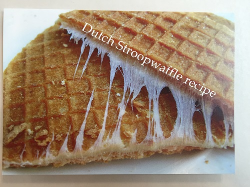Dutch Stroopwafel Recipe Card