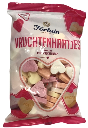 Fortuin Candyhearts (Vruchtenhartjes) w real Fruit Juice