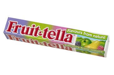 Fruit-tella (pink/yellow)