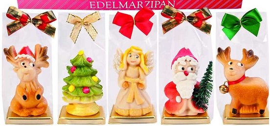 *Funsch Marzipan Christmas Figure in Gift Bag (1 gift bag only)