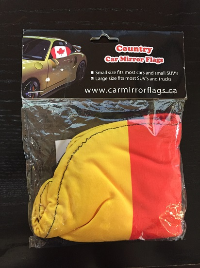 German Car Mirror Flag - Large Car (2 SETS LEFT))